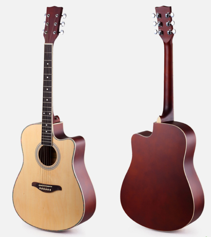 Cheap folk guitar 38/40/41 inch glossy Rounded or missing corner acoustic guitar factory wholesale musical instrument electric b