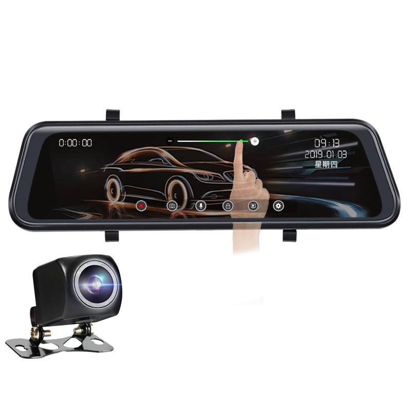 "Dash Cam 1080P Mirror 2020新10 ""Full HD Touch Streaming DualレンズRearView Night Vision For車Dvr Camera工場dashcam"