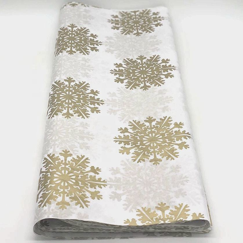 500*750mm FSC approved printing wrapping tissue golden luxury packing paper
