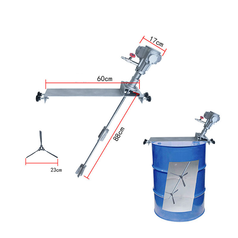 Fluid agitator mixer 200L drum for 50 Gallon Paint drum, 100 Gallon Coating Drum and 250 Gallon Chemical IBC Tank Cylinder