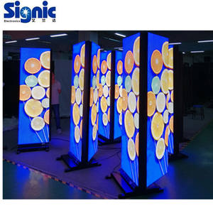 Dalam Ruangan P3 Smart Panel Tanda Berdiri LED Poster Video Papan Banner Iklan Layar LED Digital Display Poster