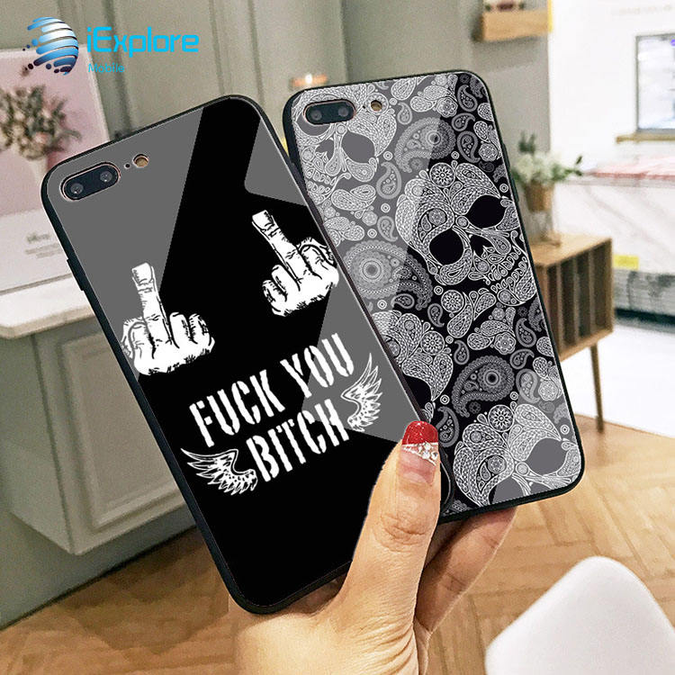 iExplore manufacturer color printing customized printing tempered glass boys phone case for Samsung iPhone 11/11pro/11promax