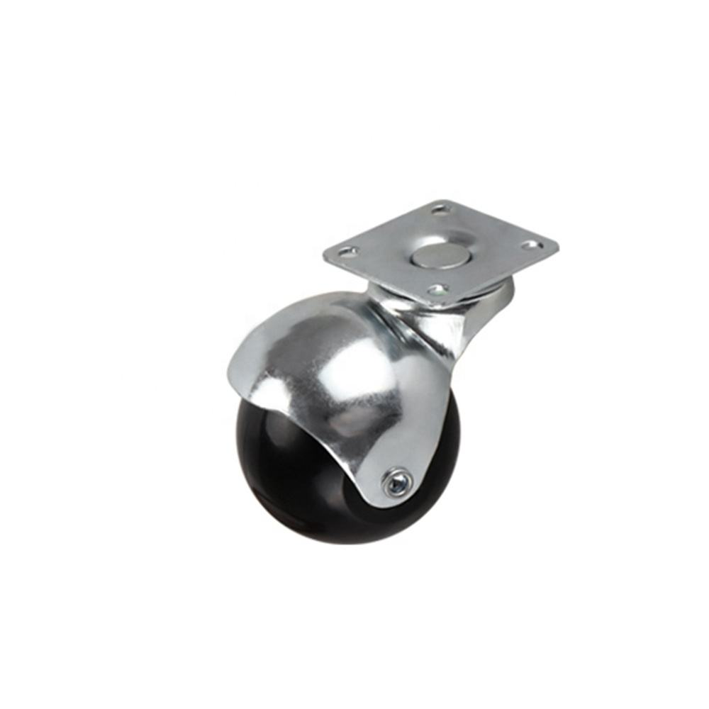 DLPO Ball Caster 50 mm Rotating Black Plastic Ball Castor Wheel