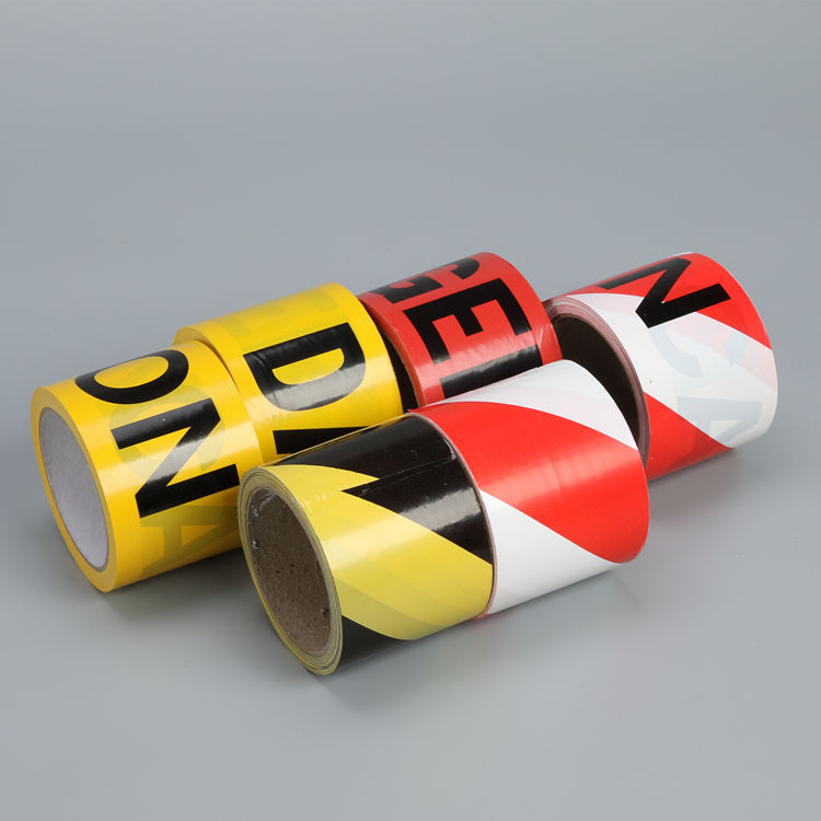 Pe Caution Biodegradable Safety Warning Yellow Roll Vapor Barrier Tape