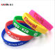 Promotional Recycled Transparent Embossed Wrist Band Silicone Rubber Custom Text Wristbands silicone bracelet