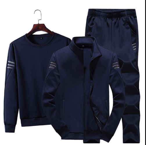 Tracksuit Men 3 Piece Set Coat+ Hoodies+ Pants new fashion jacket Sporting Wear Spring Autumn Casual Male Sporting Suits