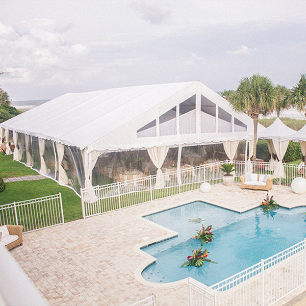 2019 Luxury 20 x 40m clear roof top Wedding canopy Tent for sale