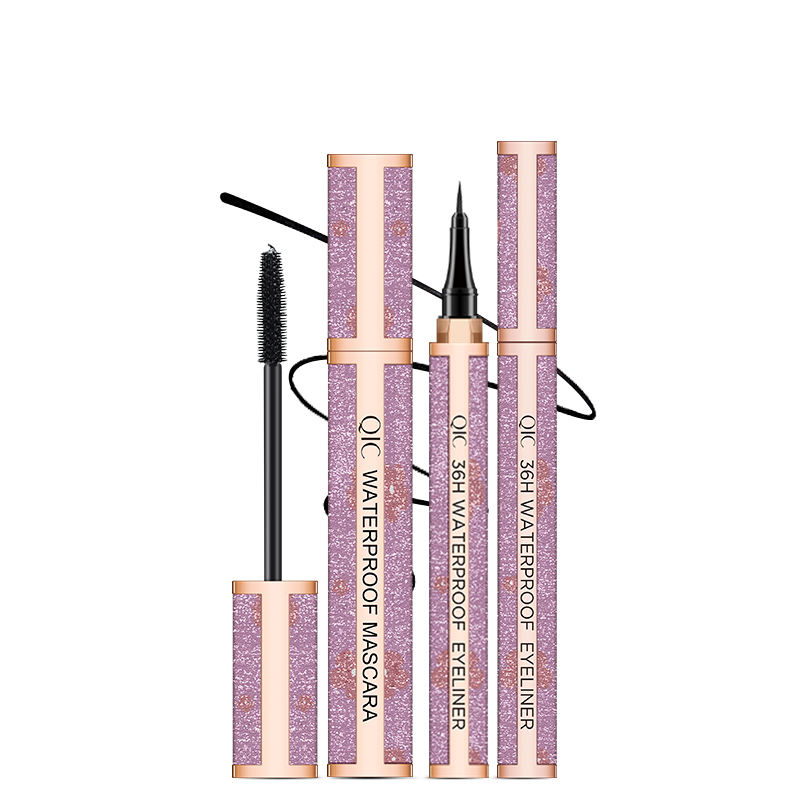 Hot Selling Private Label Luxury Face 2 In 1 Eyeliner Mascara waterproof Long Lasting Mascara and Liquid Eyeliner