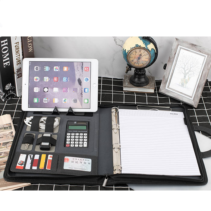 Business PU Leather Portfolio with Calculator Business Gift Sets