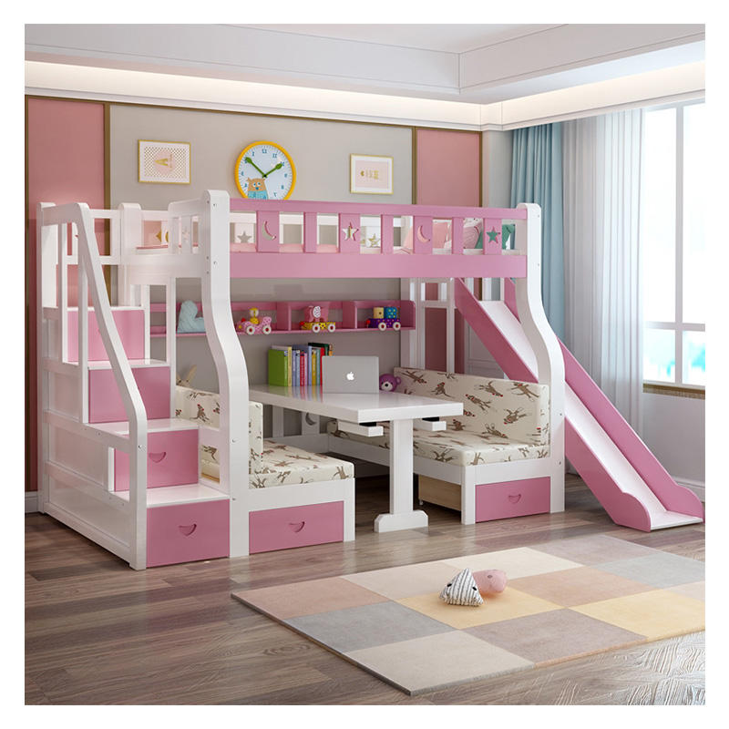 JNZ bed furniture customised princess children bunk bed girls bunk with slide