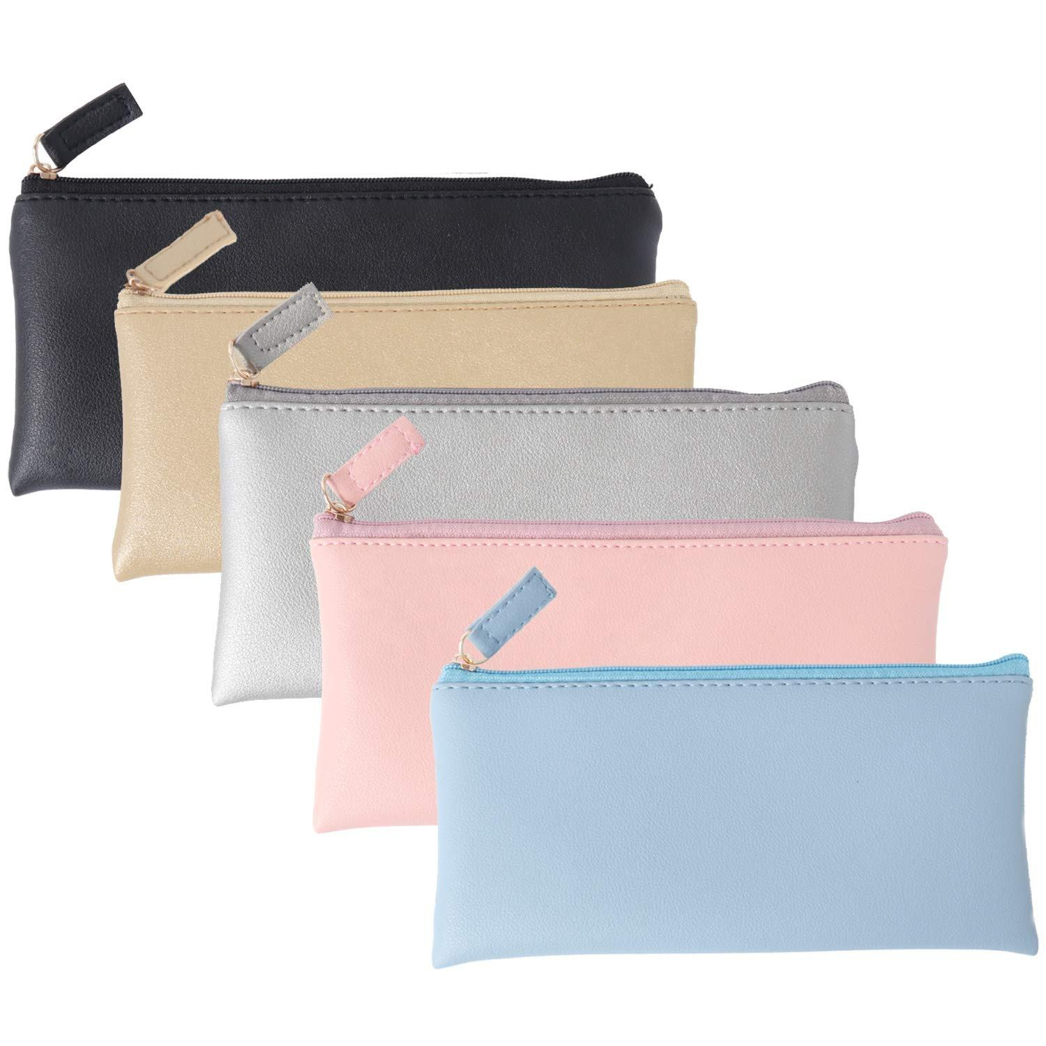 Micani Custom Ontworpen Pu Leather Pouch Make Up Cosmetische Tas Met Rits Make Up Bag