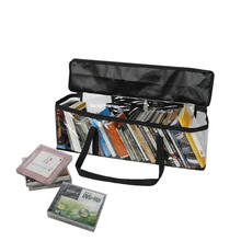 Transparent Large Capacity Book Handbag PVC CD Book Storage Bag Books Organizer Transparent Handbag For  Book Organization