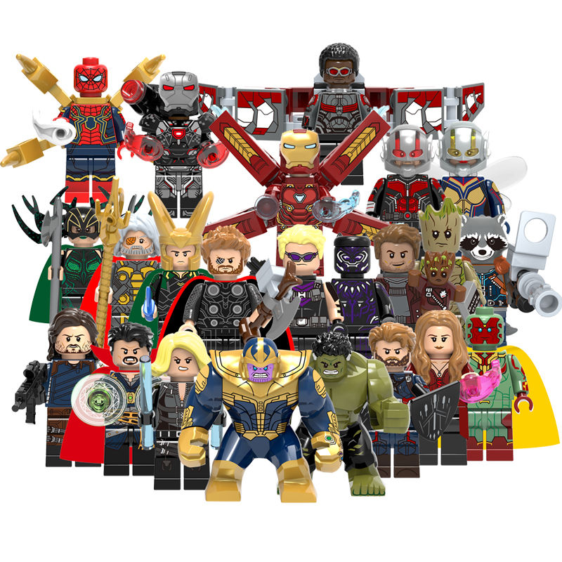 Superhero Legos Brick Mini Action Figure Plastic Building Blocks Toys for Kids Compatible 23pcs