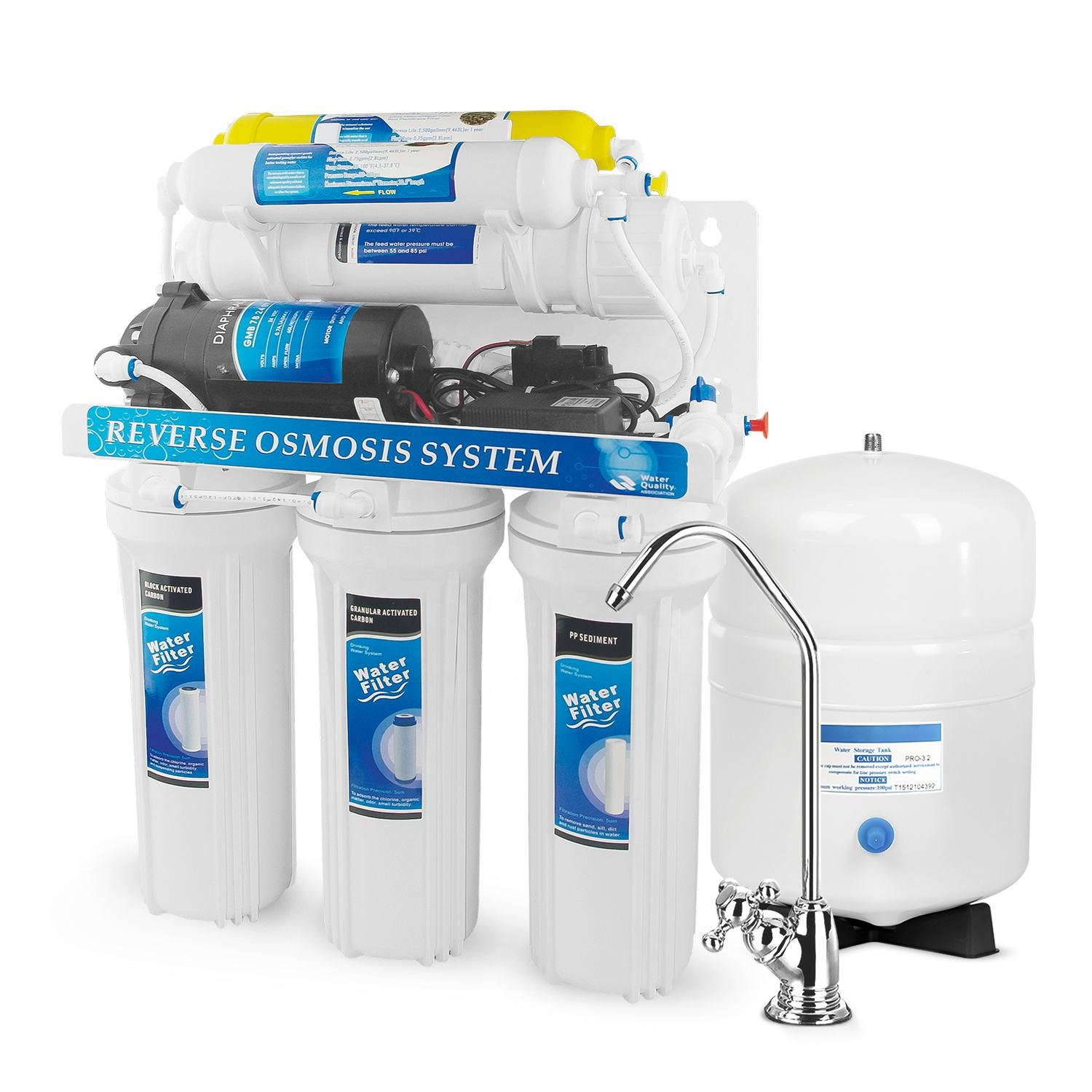 Undersink hidrotek domestic reverse osmosis water purifier machine with 6 stage