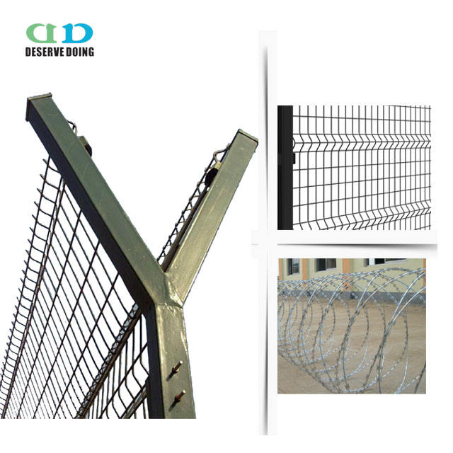 airport fencing netting for military area /fence sensor security system/ wire mesh fence used for airport playground