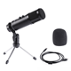 Real Time Monitor Headphone Professional Computer USB ECHO Recording Home Studio Condenser Microphone With MIC Stand