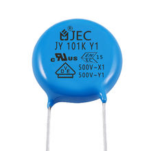 Wholesale Safety Electronic components AC y1 500v 101 Ceramic Disc Capacitor