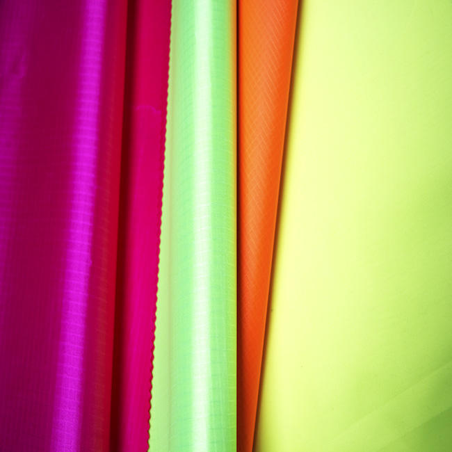 210T PLAIN THIN HOME DECORATION 100%POLYESTER GLITTER FLUORESCENT RIB SHINING FABRIC