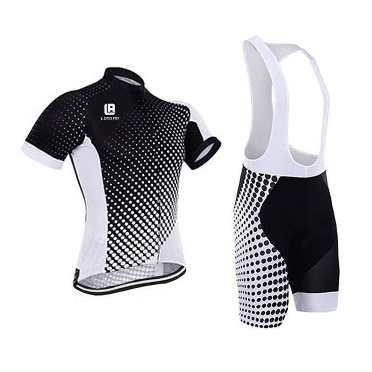 Exquisite Structure Manufacturing Bib Black and White mtb Shorts Cycling Jerseys Men