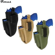 Right Left Interchangeable Tactical Pistol Hand Gun Holster with Magazine Slot Holder