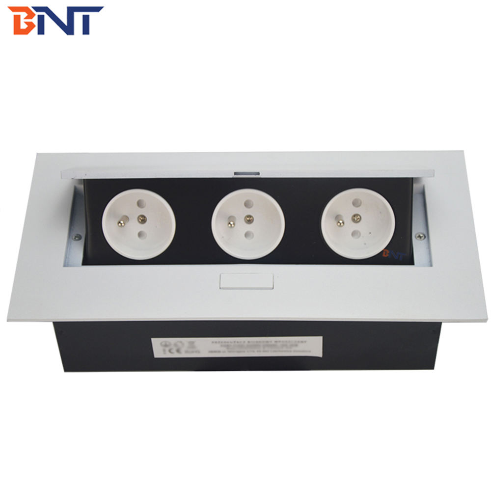table top pop up box with double international power socket /pop up box cable cubby for conference table