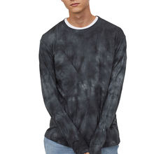 OEM factory wholesale custom long-sleeves crew neck tie-dye t shirts for men