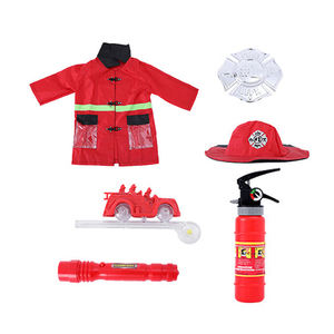 Toy factory Chinese kids nylon fireman roleplay costume for wholesale
