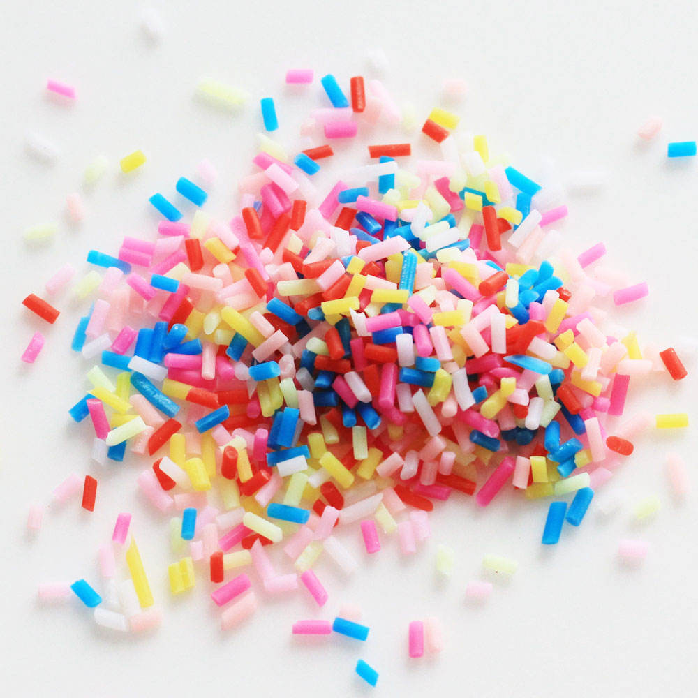 Polymer Clay Colorful Candy Sugar Cake Dessert Sprinkles Decorative Slime DIY Craft For Crunchy Slime