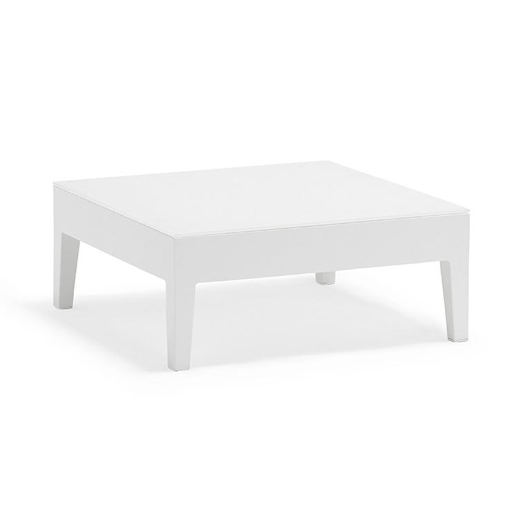 Couture Jardin Welcome Modern White Coffee Table Living Room Decor Square Coffee Tables