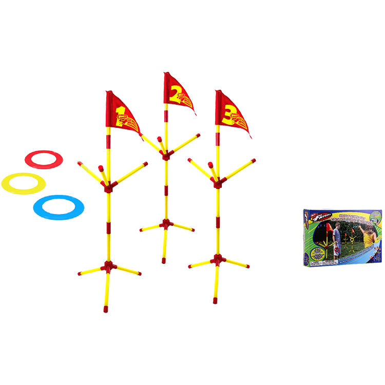 Wham-O Ons Magazijn Multi-Player Game 3 Frisbee Mini <span class=keywords><strong>Ringen</strong></span> En 3 Multi-Arm <span class=keywords><strong>Vlag</strong></span> Berichten haak En Score Golf Tuin Populaire Games