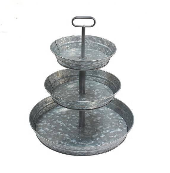 3 Tier Metal Cake Carrier Cake Tray Holder Stand