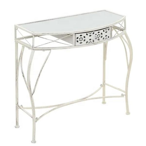 2022 hot sale metal entrance console dressing table living room 1 drawers makeup desk hallway table
