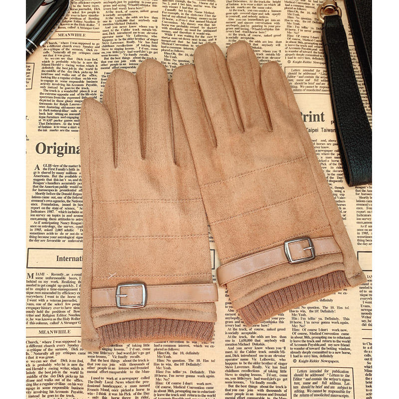 Wholesale Suede Men's Winter Windbreak Warm Coral Lining Touch Screen Outdoor Bicycles Motorcycles And Bicycle Gloves