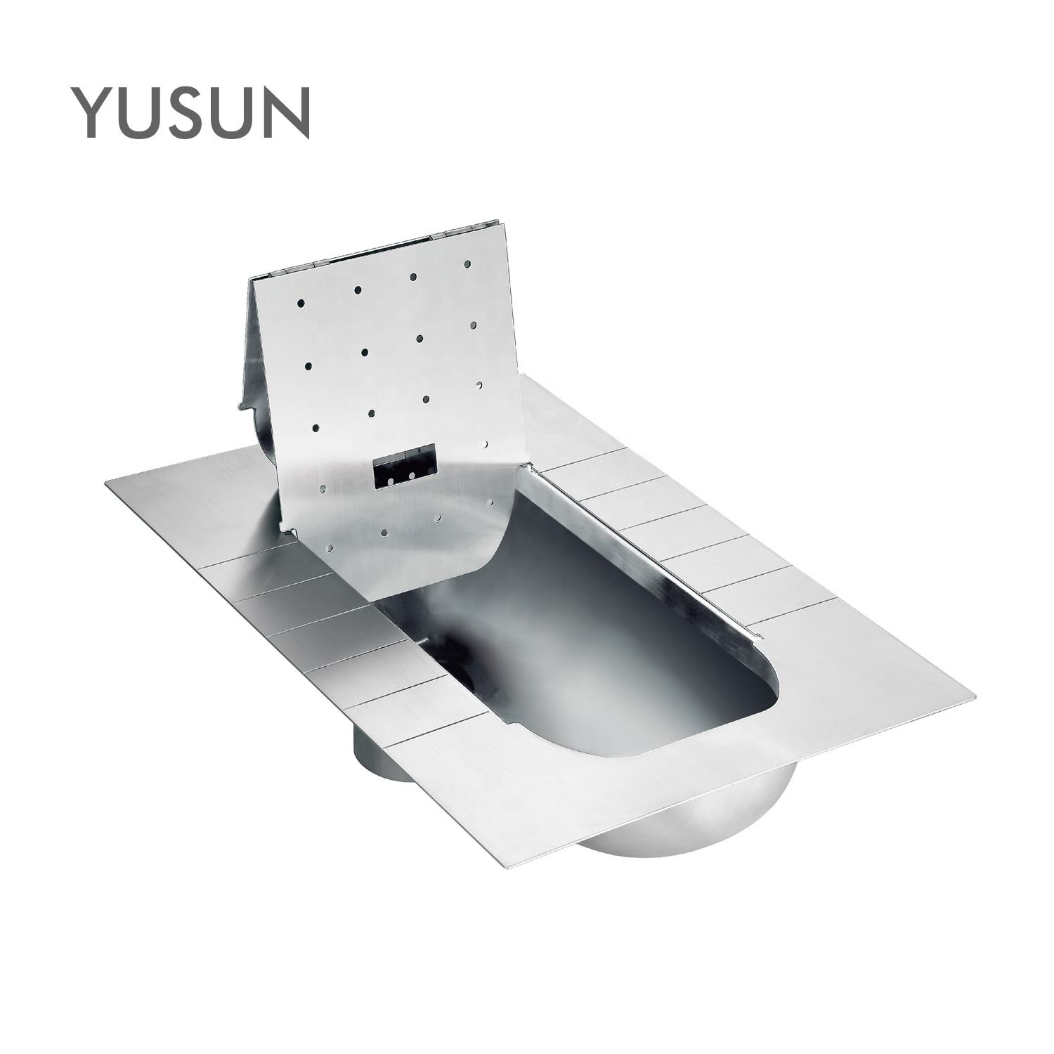 NEW style 304 Stainless Steel Squatting Toilet Wc pan