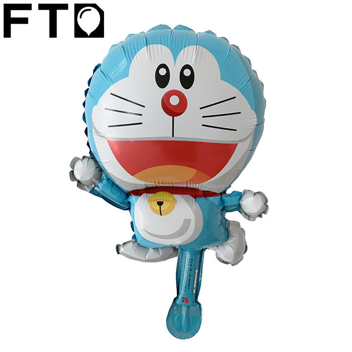 Doraemon cartoons party decoration flying foil Helium balloons toys for children