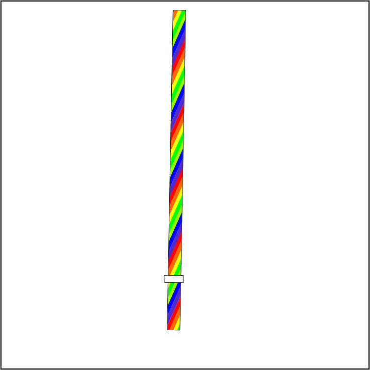 eco-friendly rainbow 7 color straw . BPA-Free, 9 Inch 7 color in one Drinking Straws Fit for Mason Jar, Tumble