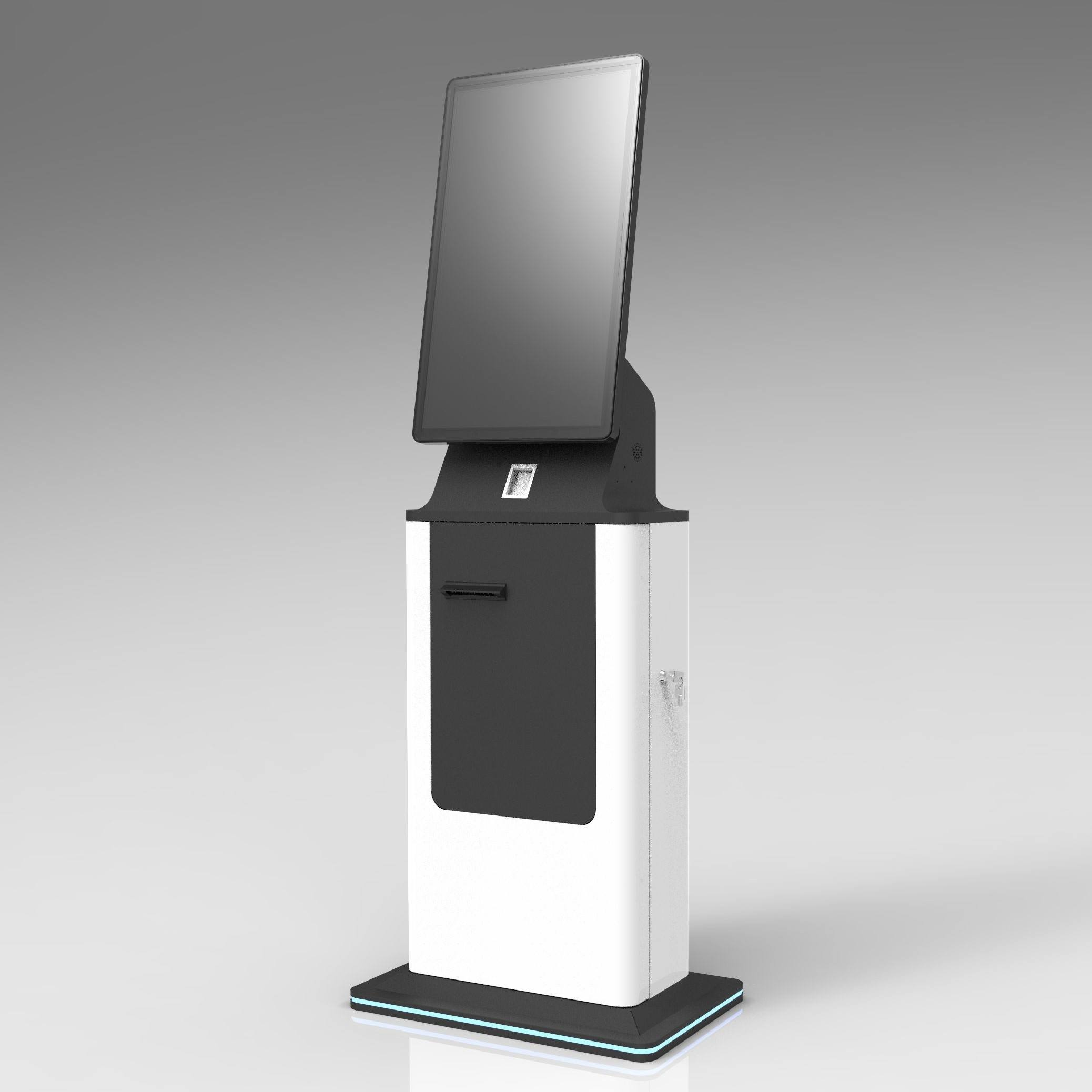 Flat Capacitive credit card kiosk for POS Machines Self Service Payment in Bank and Hospitals