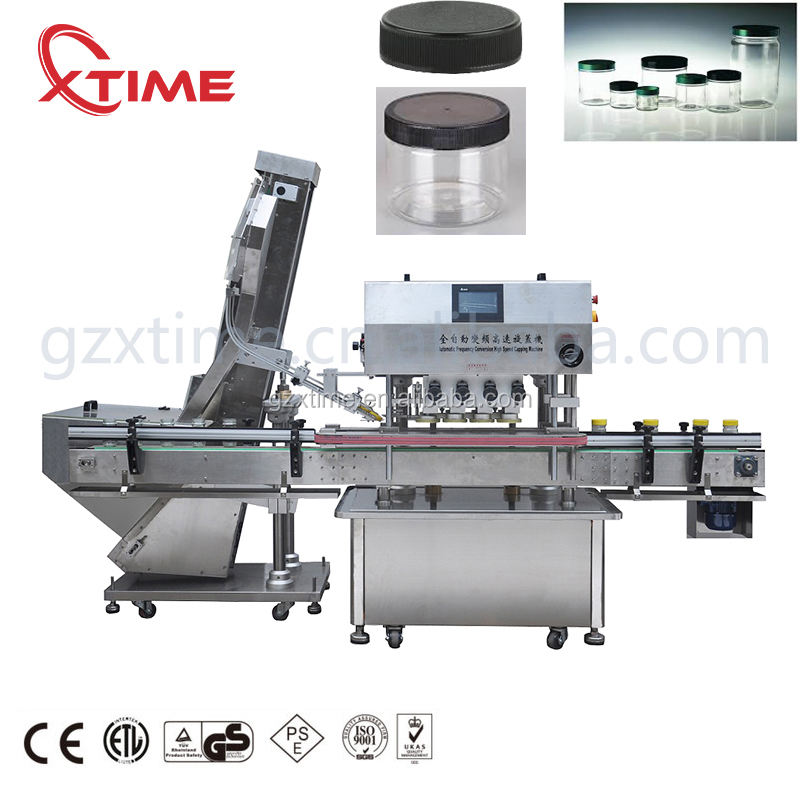 Automatic linear plastic jar capping machine speed in 30-60 bottle screw capping machine
