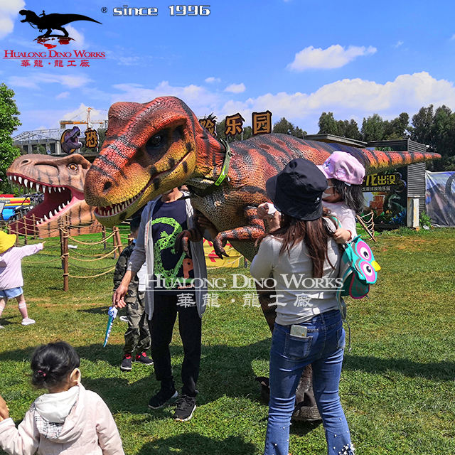 High quality factory animatronic dinosaurio t rex costume realistic raptor costume dinosaur for sell