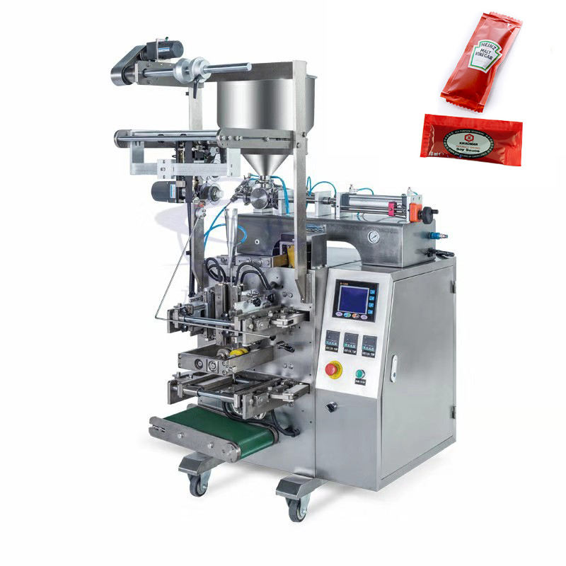 Automatic tomato paste filling and sealing packaging machin ketchup packet machine tomato sauce ketchup packing machine