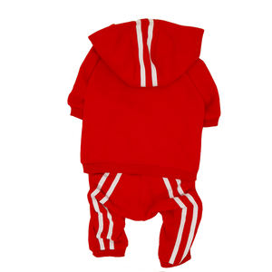 15 Colors Red Blank plain Dog Sports Tracksuit with Hood
