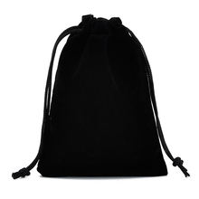 Multi-color jewellery bags velvet makeup bag large black velvet drawstring pouch bag with custom large stock capacity