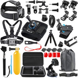 56-in-1 action camera Accessories Kit for GoPro Hero8 7 Blac