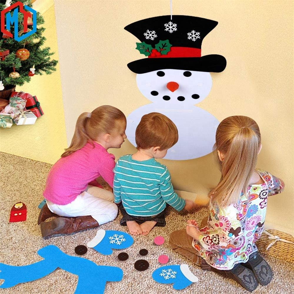 Snowman DIY Felt Handmade Christmas Gifts for Children