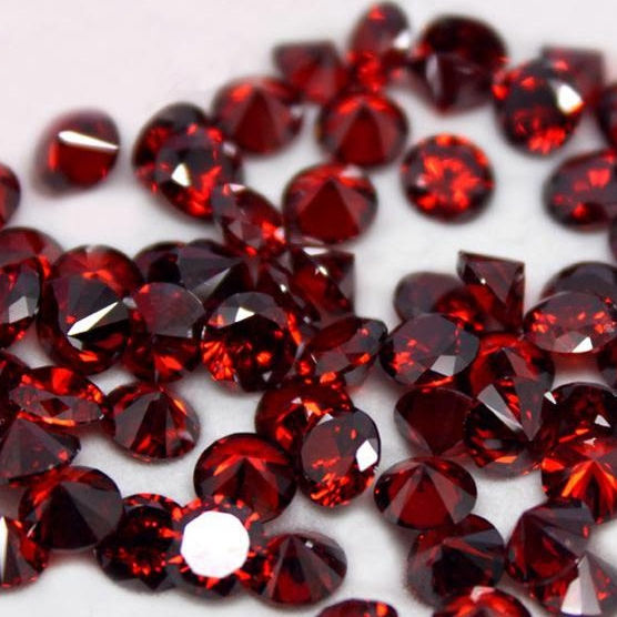 3mm Round Cubic Zirconia Red CZ 5A Stone