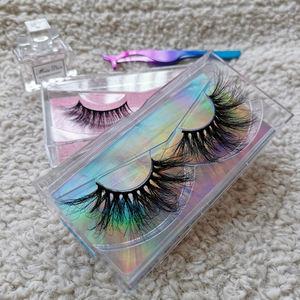 Natural distributors free samples custom packaging 3d mink eyelashes Vendor hot sale strip mink 3d eyelashes
