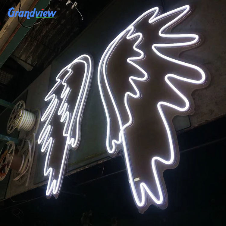 LED Illuminated Logo Acrylic Wing Love Wedding Custom Neon Signs Word Lights for Home and Bar
