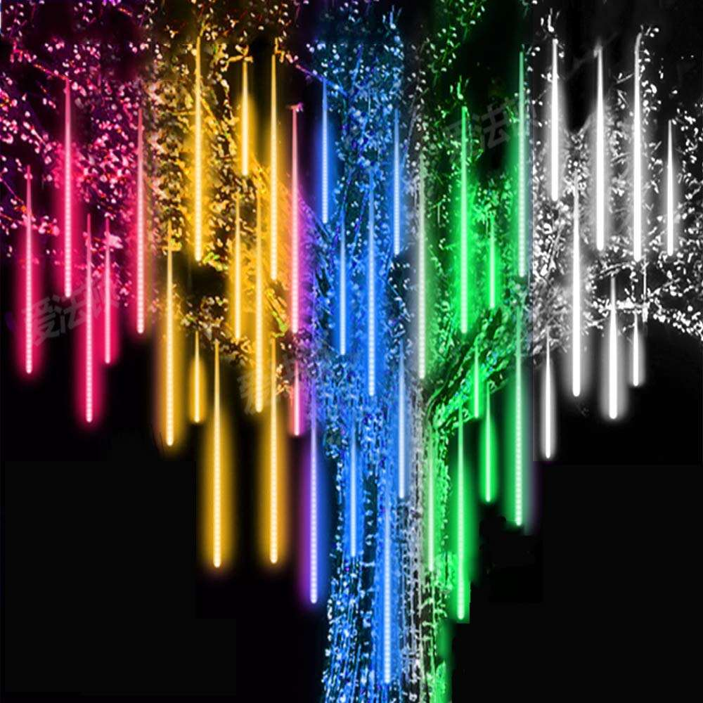 30cm 8 Tube Icicle Snow Fall String Cascading Fairy Light Falling Rain Decoration Lights, Waterproof LED Meteor Shower Lights