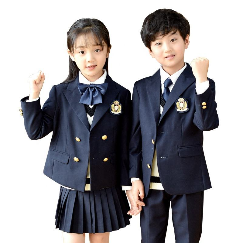 Primary school uniforms suits spring and autumn winter British college style children's clothing kindergarten uniforms OEM/ODM