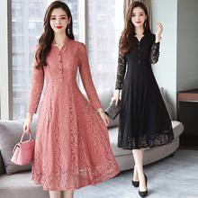 Woman clothes 2020 trending short sleeve midi summer lace dresses xxxl